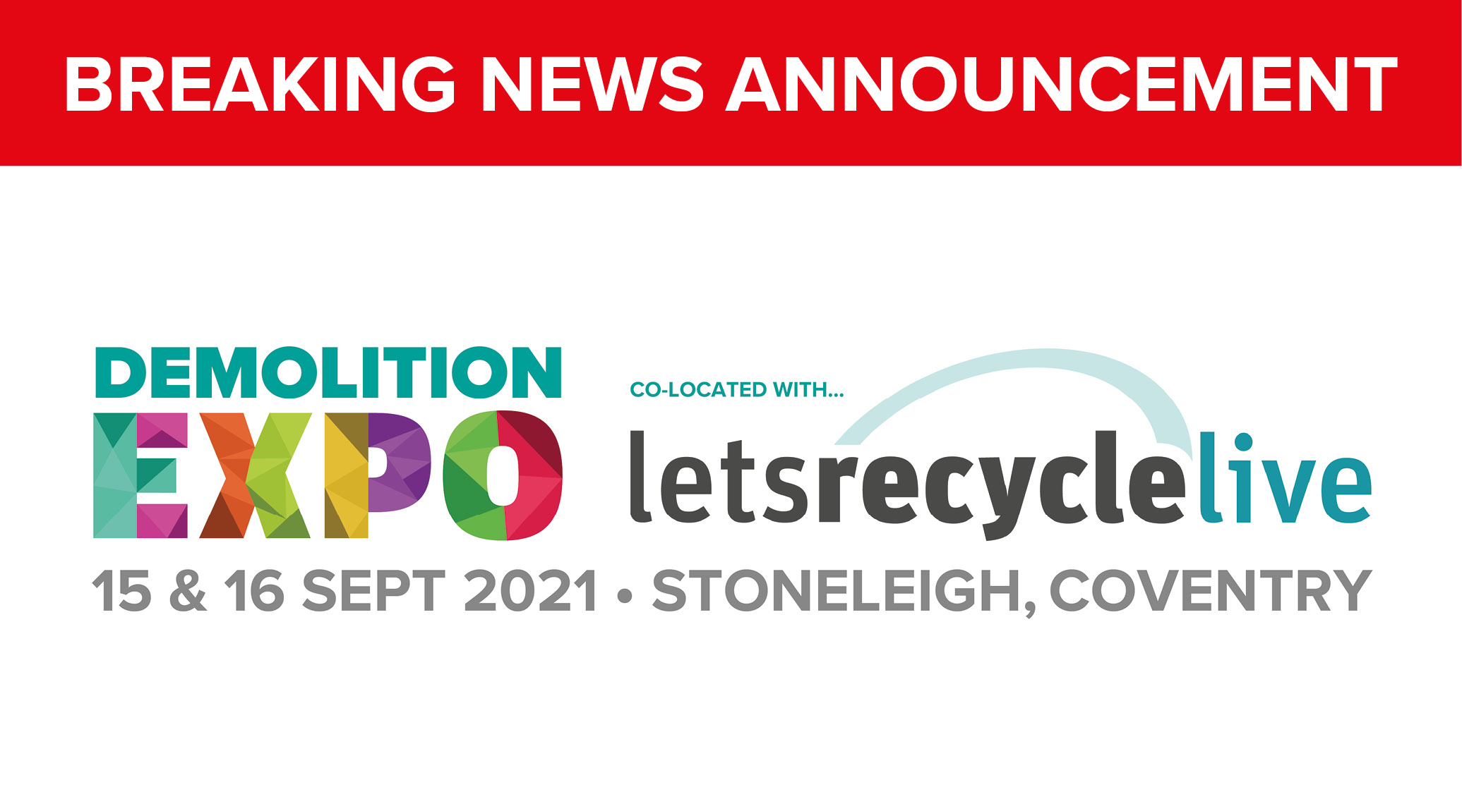 Demo Expo rescheduled to September 2021